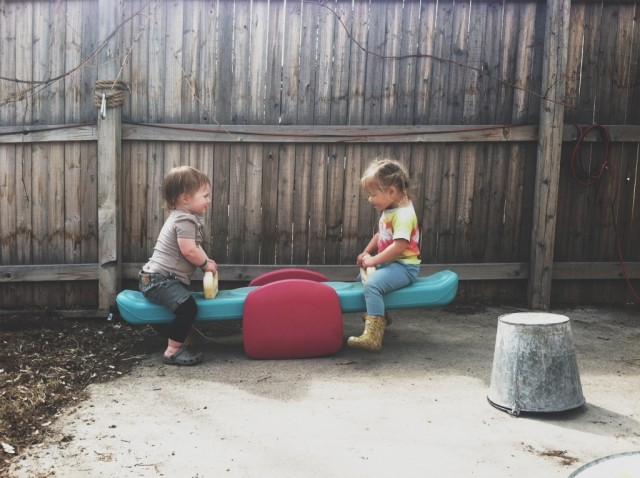 A Denver Home Companion | teeter totter time